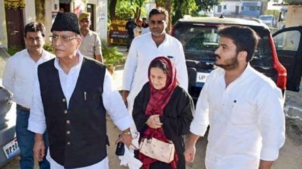 पत्नी और बेटे के साथ आजम खान को रामपुर कोर्ट ने भेजा 3 दिन के लिए जेल